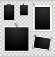 photo frames template mockup vector image