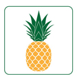 Pineapple with leaf icon yellow vector image vector image