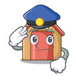 police cartoon funny dog house with dish vector image