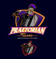 praetorian guard esport insignia style vector image vector image