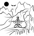 rafting and kayaking vector image vector image