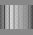 realistic metal prison grilles isolated on a vector image
