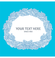 Round frame doodle vector image vector image