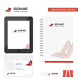 sandals business logo tab app diary pvc employee vector image