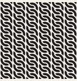 Seamless pattern monochrome rounded wavy stripes