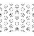 seamless pattern with rating satisfaction vector image