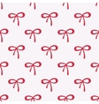 Seamless watercolor pattern with red bows on the vector image vector image