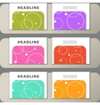 Set of covers with abstract circles and patterns vector image