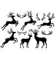 silhouettes deers and deer horns vector image