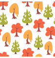 simple seamless colorful trees pattern vector image vector image