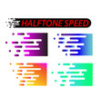 speed lines set isolated on white motion effect vector image