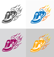 Sport and fitness logo Running shoe icons vector image vector image