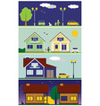 streets and houses vector image vector image