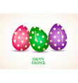 Three patterned Easter eggs vector image vector image