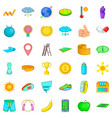 whistle icons set cartoon style vector image vector image