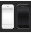 White and black smartphone realistic mockup Model vector image