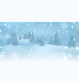 winter christmas background with blue sky heavy vector image vector image