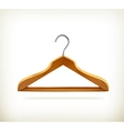 Wooden clothes hangers icon vector image