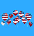 air balloon colored in united states flag vector image
