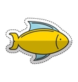 fish sea isolated icon vector image