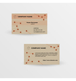 modern brown business card template vector image