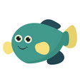 a blue fish or color vector image vector image
