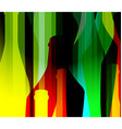 alcohol bottle color vector image vector image