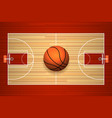 Basketball court floor top view vector image vector image