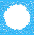 blue icons of social media network activity vector image