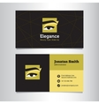business card template with make up studio vector image