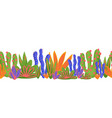 cactus seamless border cacti in bright vector image