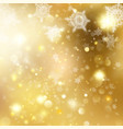 christmas golden holiday glowing background eps vector image vector image