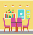 colorful design room table with chairs vector image vector image