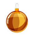 colour christmas gold ball isolated on white vector image vector image