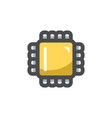 computer processor electronic chip icon vector image