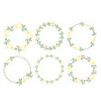 cute flat style minimal white yellow flower vector image vector image