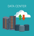 data center technology icons vector image