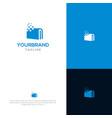 digital book logo template vector image vector image