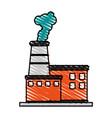 factory cartoon flat scribble vector image vector image