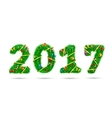 Fir tree font 2017 number vector image vector image