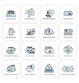Flat Design Security and Protection Icons Set vector image vector image