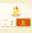 flat style colorful food and drinks delivery vector image vector image