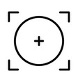focal point or focus icon design vector image vector image
