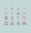 furniture icons set 03 vector image vector image