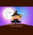 halloween night full moon party fancy vector image vector image