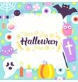 Halloween Paper Template vector image vector image