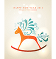 Happy New Year card 2014 Year of Horse vector image vector image