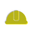 hardhat sign yellow icon with square vector image vector image