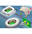 Isometric Stadium of Recife and Belo Horizonte vector image vector image