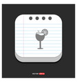 juice icon cocktail drink icon gray icon on vector image